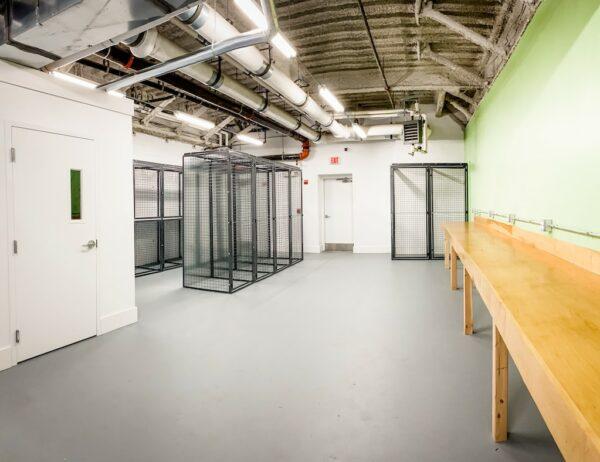 Storage & Workbench Area