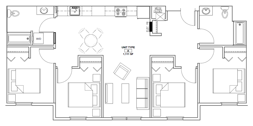 Four Bedroom Floor Plan